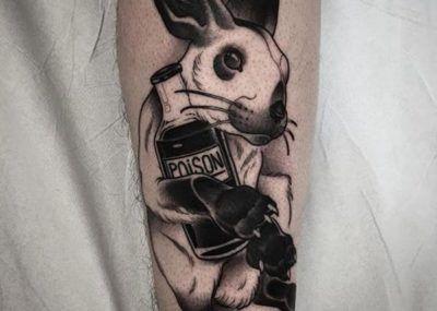 Тату кролик и страсть