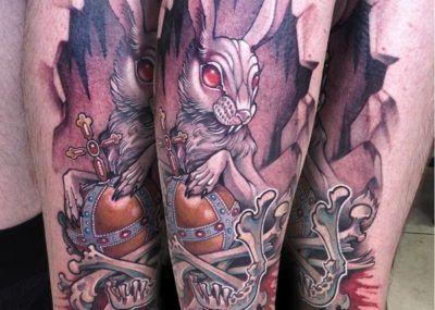 тату кролик рукав