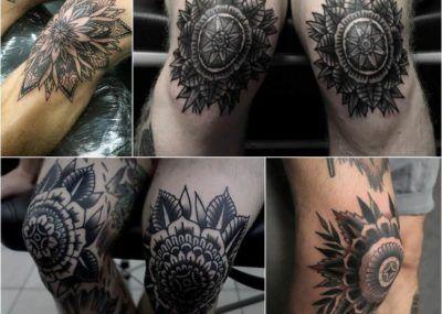 татуировки на ноге