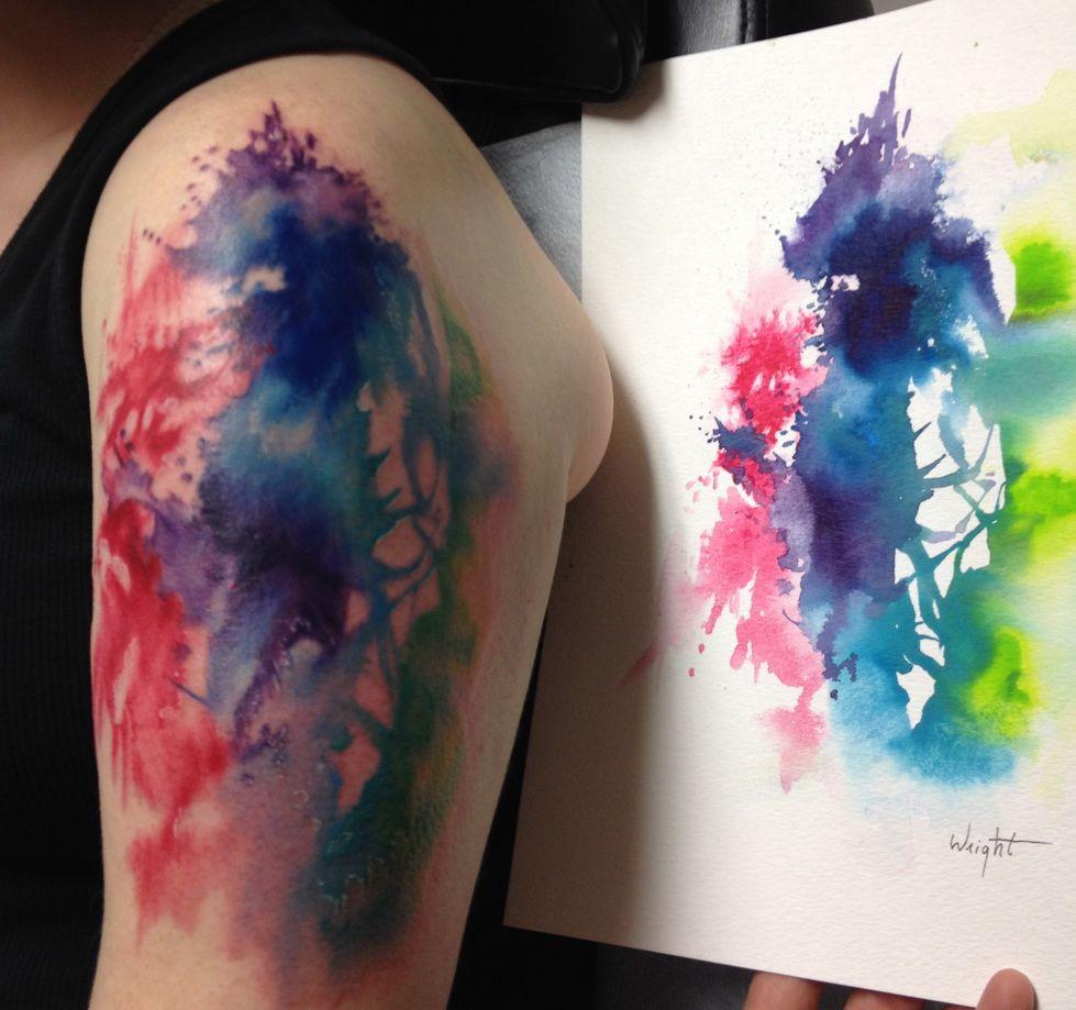 татуировки в стиле абстракция