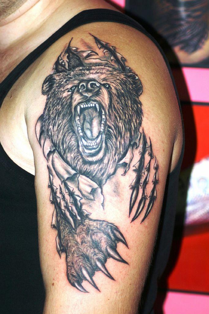Что значит медведь в татуировке   Онлайн-журнал о тату Тату Дерево Дуб