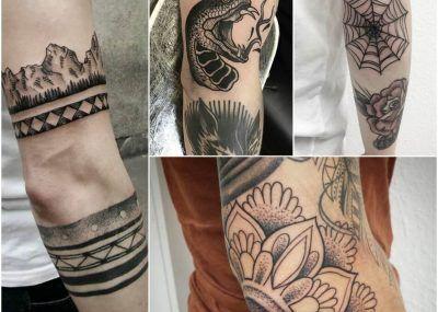 татуировок на локте