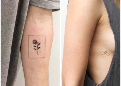Тату минимализм роза