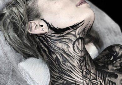 Самые необычные татуировки на шее