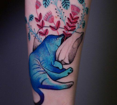 Яркие татуировки от польской художницы