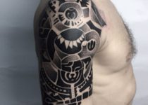 стиль орнаментал в тату на плече мужские