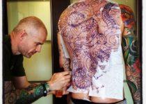 стиль япония в тату на спине
