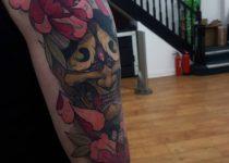 стиль япония в тату на руке дракон
