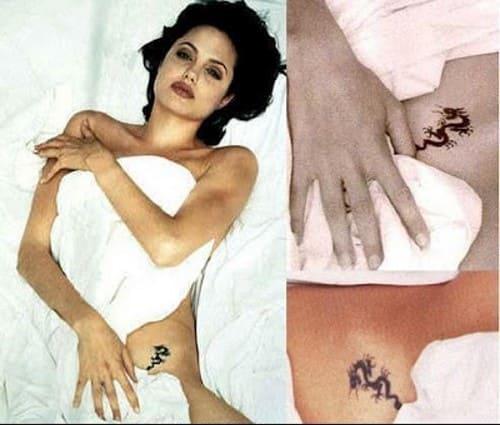 Татуировки Анджелины Джоли в интимном месте
