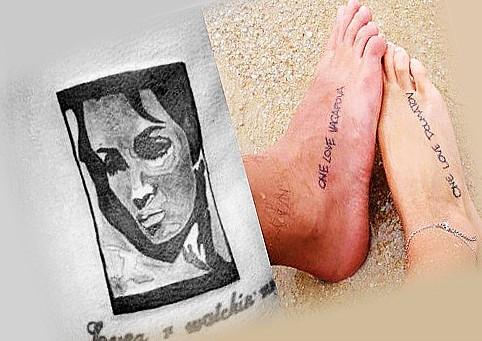 Татуировки гуфа в честь жены и сына
