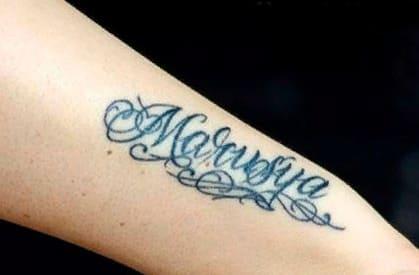 Татуировки Ксении Бородиной