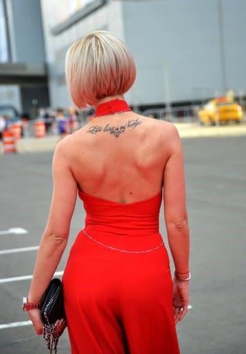 Татуировки Ольги Бузовой на спине