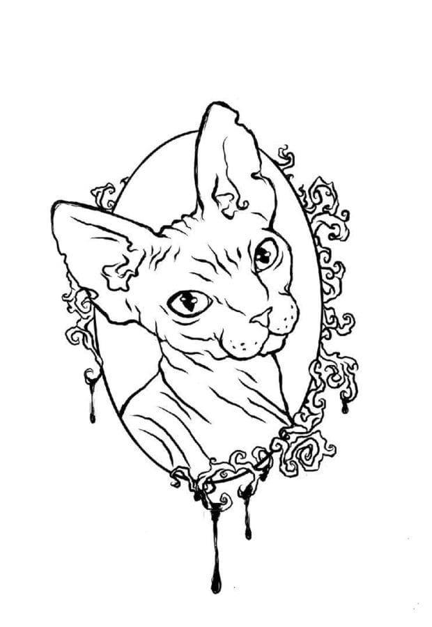 Кот. Эскизы тату (120 фото)56