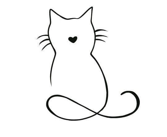 Эскизы тату с котом
