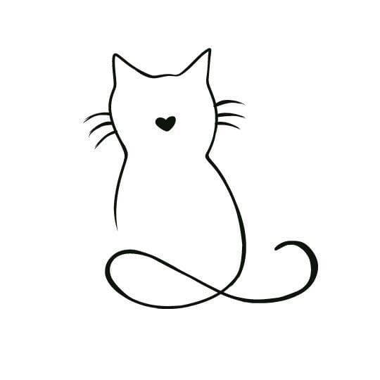 Кот. Эскизы тату (120 фото)63