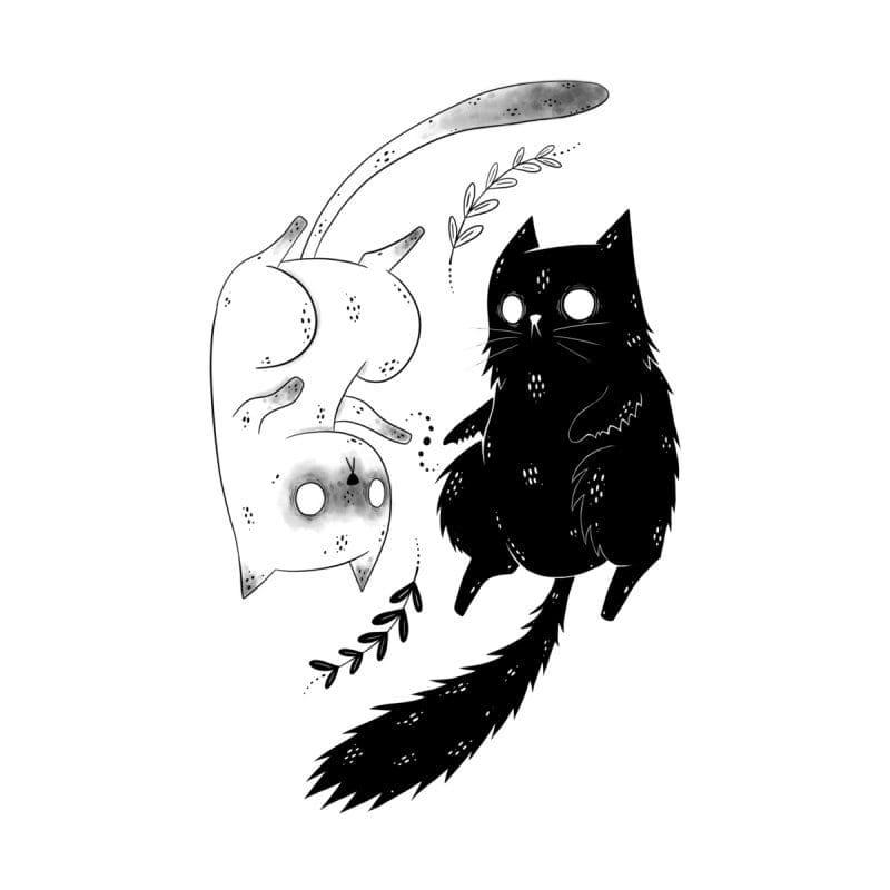 Кот. Эскизы тату (120 фото)86