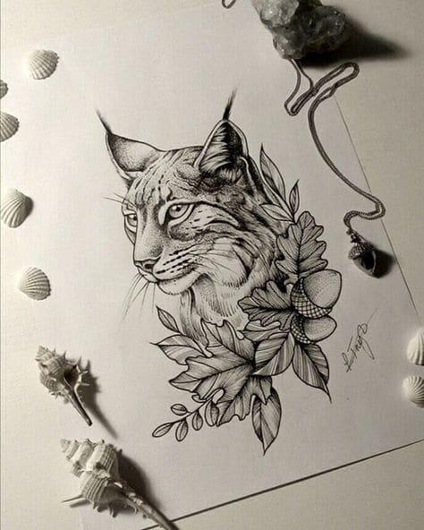 Кот. Эскизы тату (120 фото)92