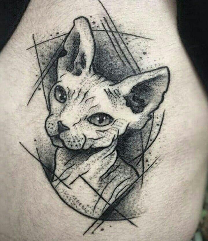Кот. Эскизы тату (120 фото)94