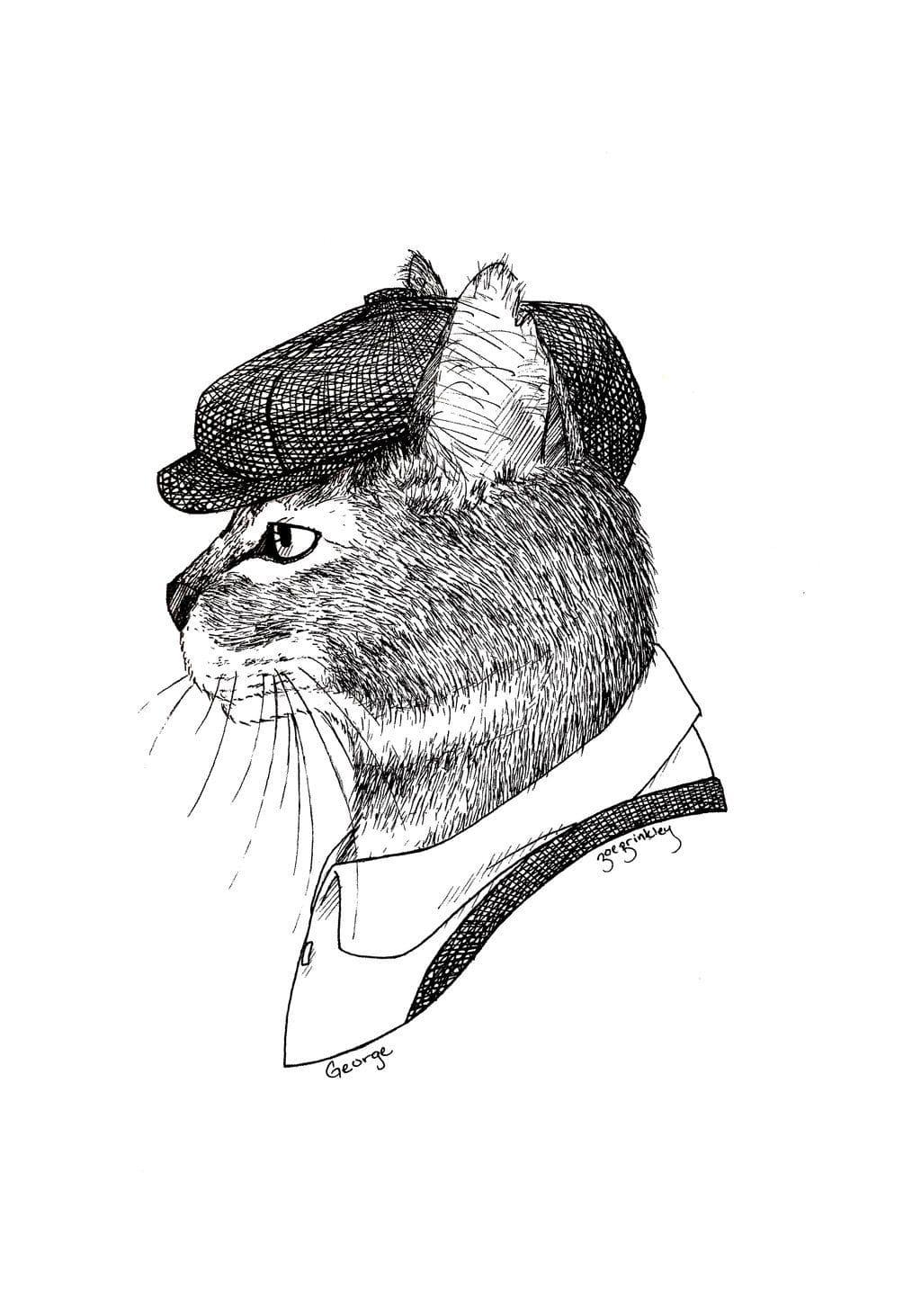 Кот. Эскизы тату (120 фото)104