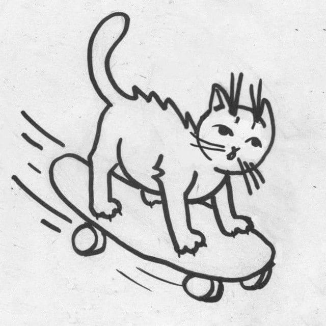 Кот. Эскизы тату (120 фото)108