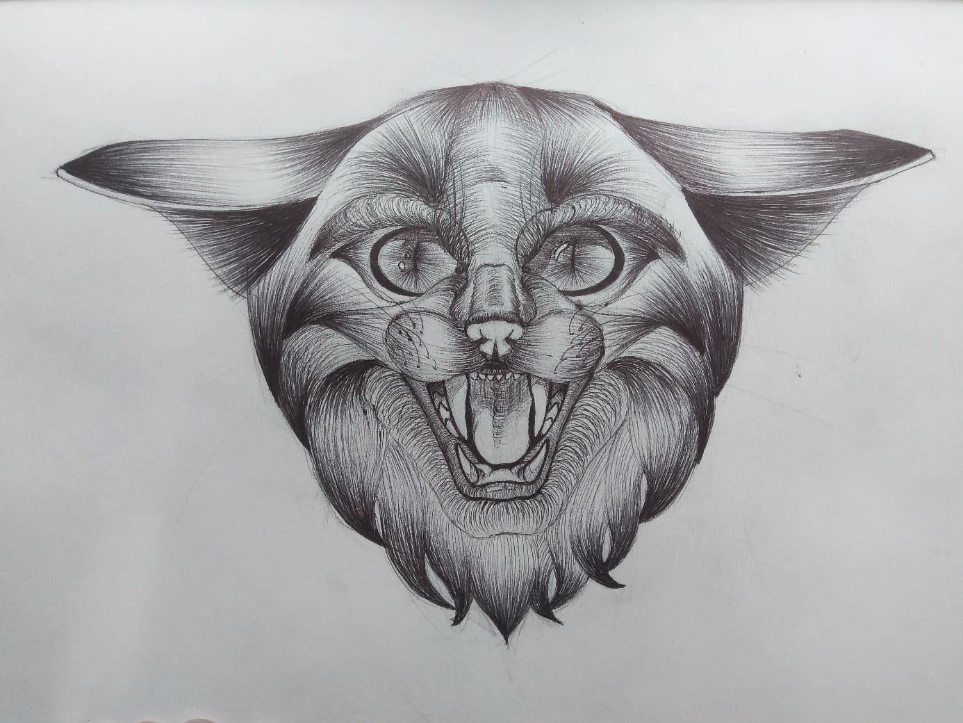 Кот. Эскизы тату (120 фото)20