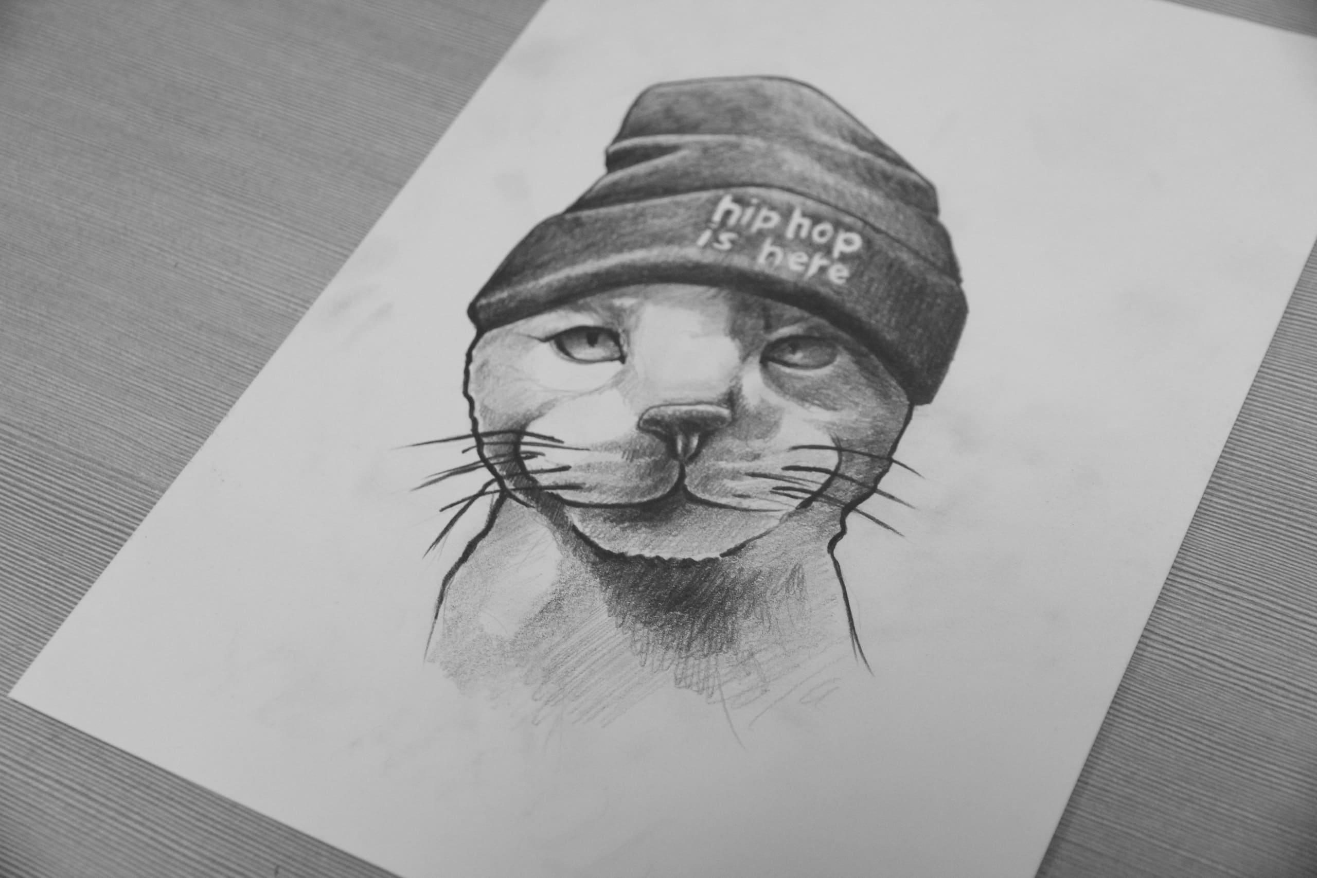 Кот. Эскизы тату (120 фото)4