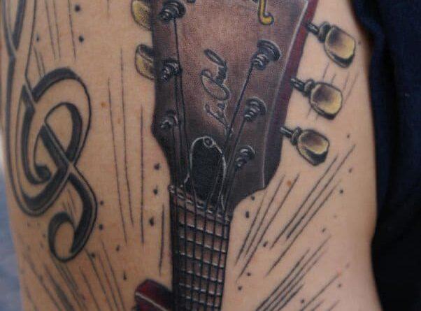 Тату гитара и струны